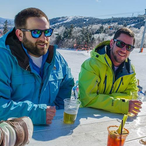 Beers at North Peak deck